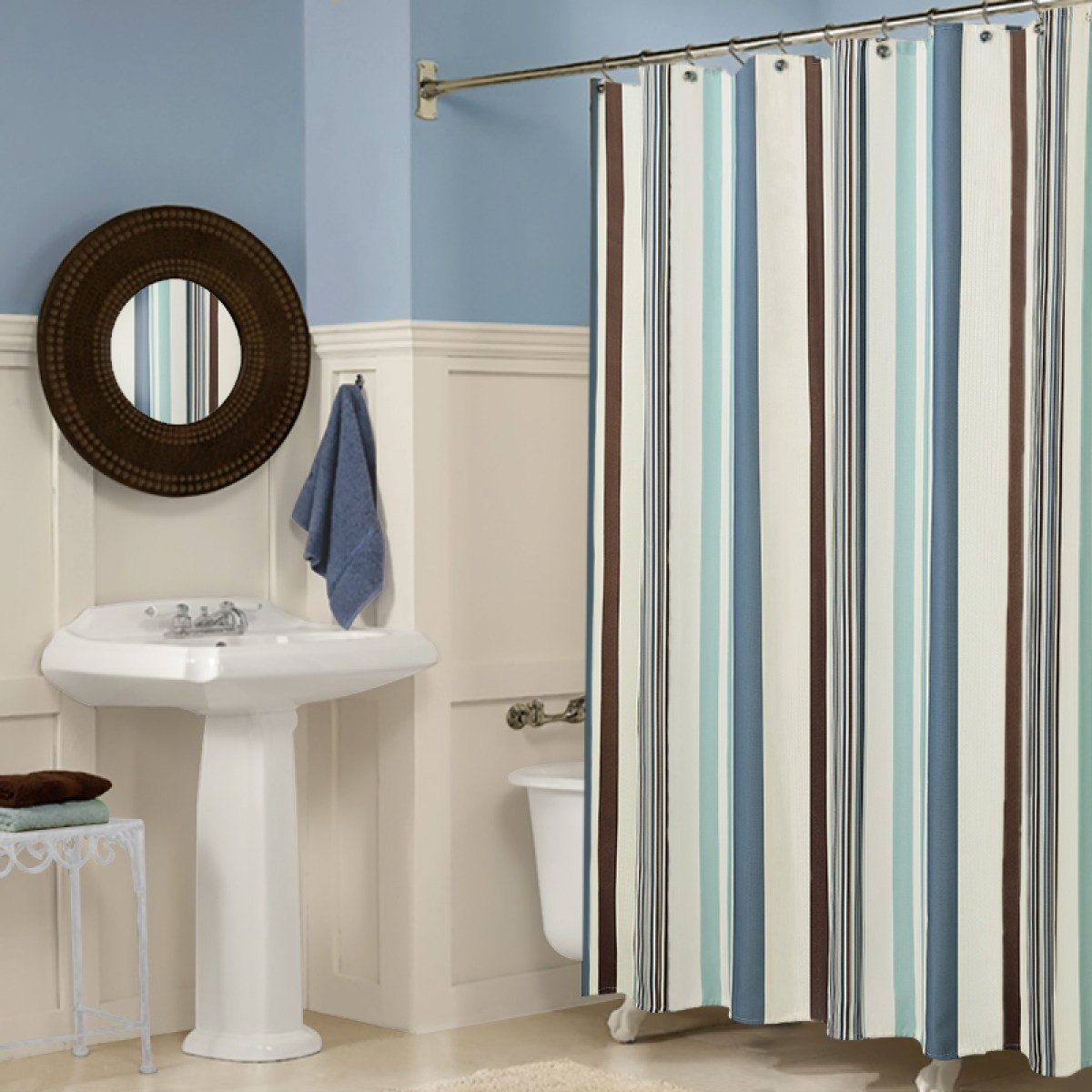 Color : Stripe, Size : 120 * 200cm shower curtain JUN partition curtain bathroom waterproof thickening mold curtains bathroom accessories stripes durable
