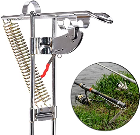 SeraISL Adjustable Fishing Rod Holder Rest Automatic Double