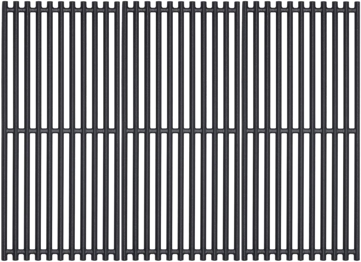 SHINESTAR 18 1/4 inch Grill Grates for Charbroil TRU-Infrared 463241313, 463241314, 463241013, 463241014, 463215515, 463215512, 463225312 Cast-Iron, Set of 3