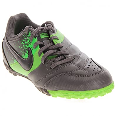 56aab54c4 Amazon.com: Nike JR Nike5 Bomba Indoor Soccer Shoe green/grey size ...