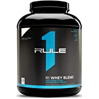 Rule One Proteins, R1 Whey Blend - Vanilla Ice Cream, 24g Fast-Acting Whey Protein Concentrates, Isolates, and…