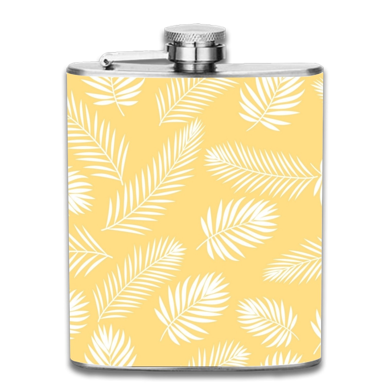 おすすめネット Palm Trees mark Flasks Ashkenazi LiquorヒップフラスコステンレススチールShot B07F5NCG2M Flasks Leak Proofクールギフトfor size Men 7oz one size Leaves On Yellow5 B07F5NCG2M, ドレス ダイエイフハク:19bd7638 --- a0267596.xsph.ru