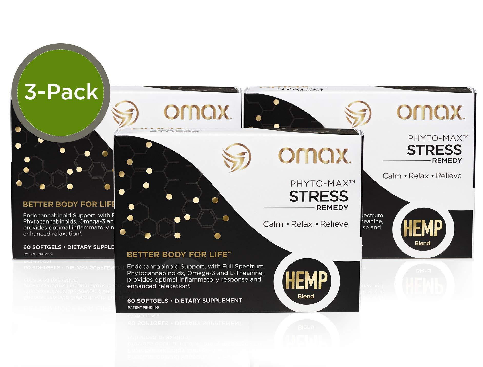 Omax® Sleep & Stress Remedy, Omega 3 L Theanine Hemp Fusion Blend, Sleep & Stress Remedy, Improve Sleep, Relax Body & Mind✱ European Sourced, cGMP, 3 Box (180 Softgels)