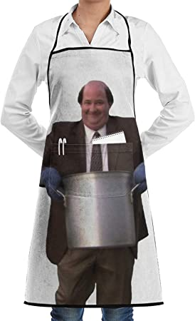 Office Meme Kevin's Chili Aprons for Women Men with Pockets for Kitchen Cooking