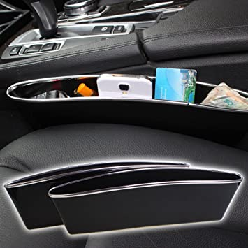 Car Seat Catcher Box Auto Gap Filler Side Pocket Organizer Inside Out Interior