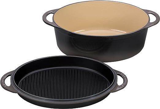 Cocina profesional sartén Provence 28 cm hierro fundido negro