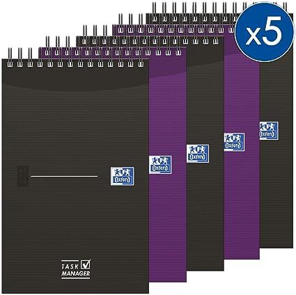 Oxford Office - Pack de 5 blocs en espiral doble y tapa blanda ...