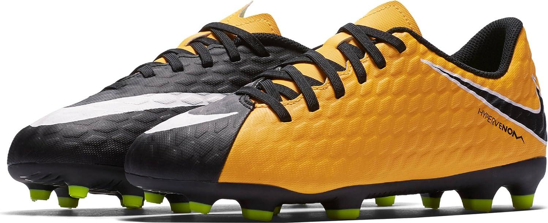 Nike JR Hypervenom Phade III FG Fußballschuhe, Unisex Kinder, Orange – (Laser Orange Weiß-schwarz-Volt)