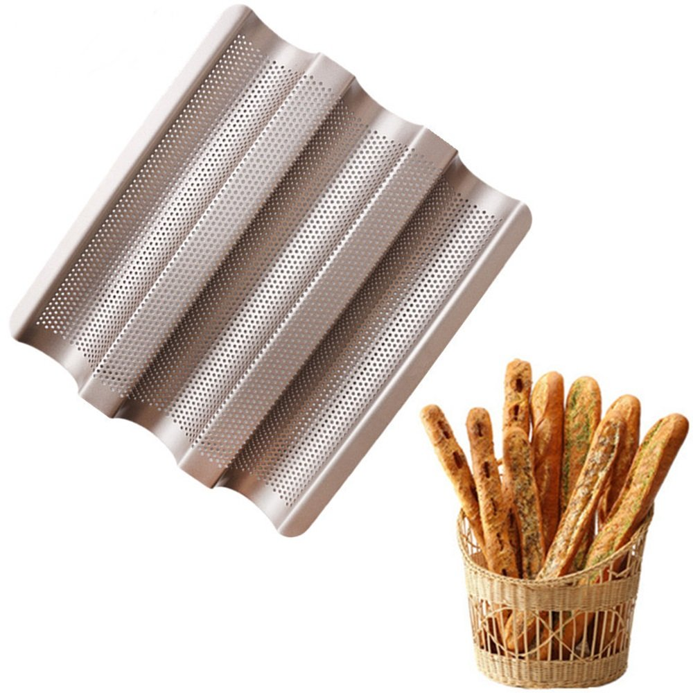 New Arrival Baguette French Bread Baking Tray Baguette Frame Rack Nonstick Carbon Steel Bread Baking Pans Kitchen Accessories China