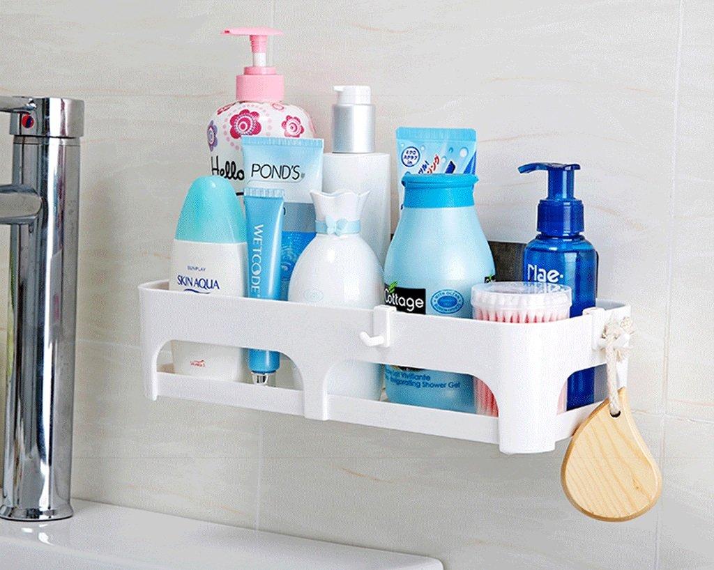 Amazon.com: Bathroom Suction Cup Shelf Rack Plastic Kitchen Toilet ...