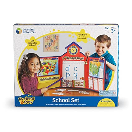 Amazoncom Learning Resources Pretend And Play School Set Deluxe