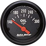 Auto Meter 2639 Z-Series 2-1/16' Short Sweep Electric Oil Temperature Gauge