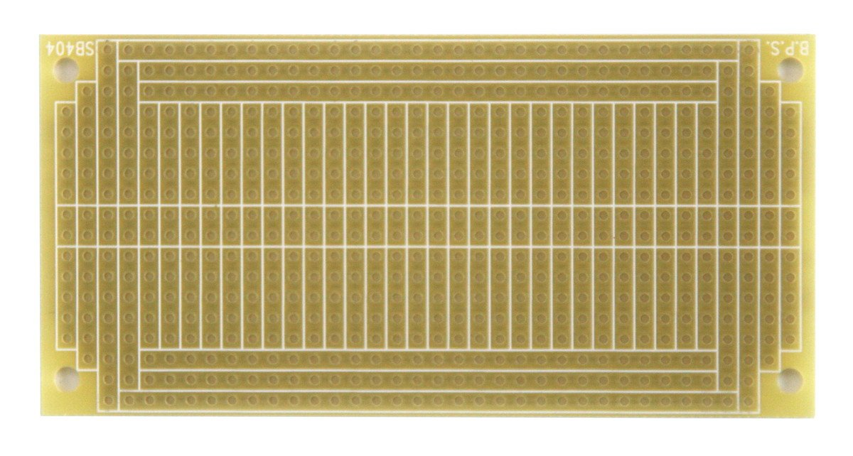 1 Sided PCB 3.75 x 1.85in matches BB400 breadboards with Power Rails 95.3 x 47.0mm SB404 Solderable PC BreadBoard