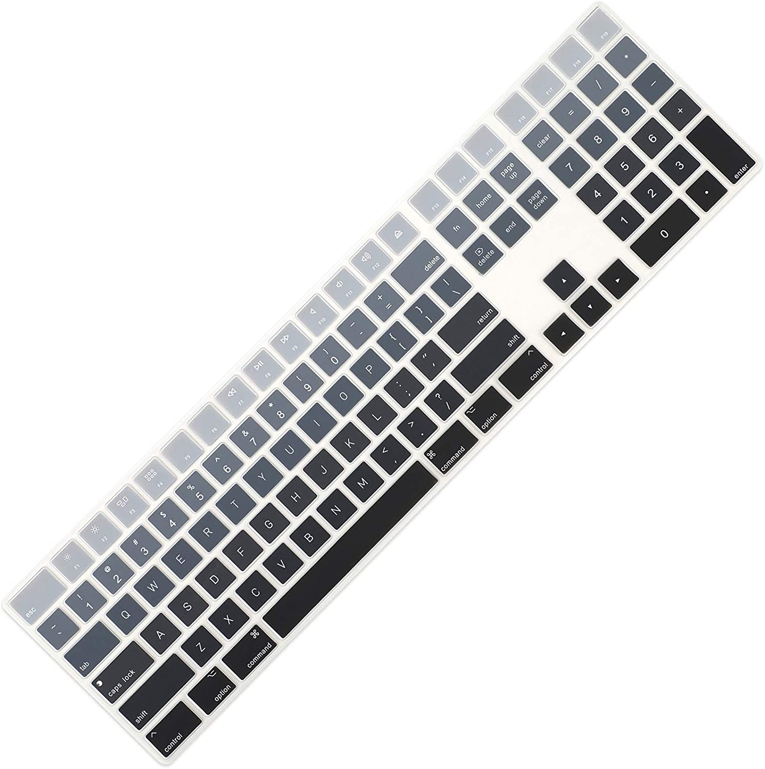 Allinside Ombre Gray Cover for Apple iMac Magic Keyboard with Numeric Keypad MQ052LL/A A1843 US Layout