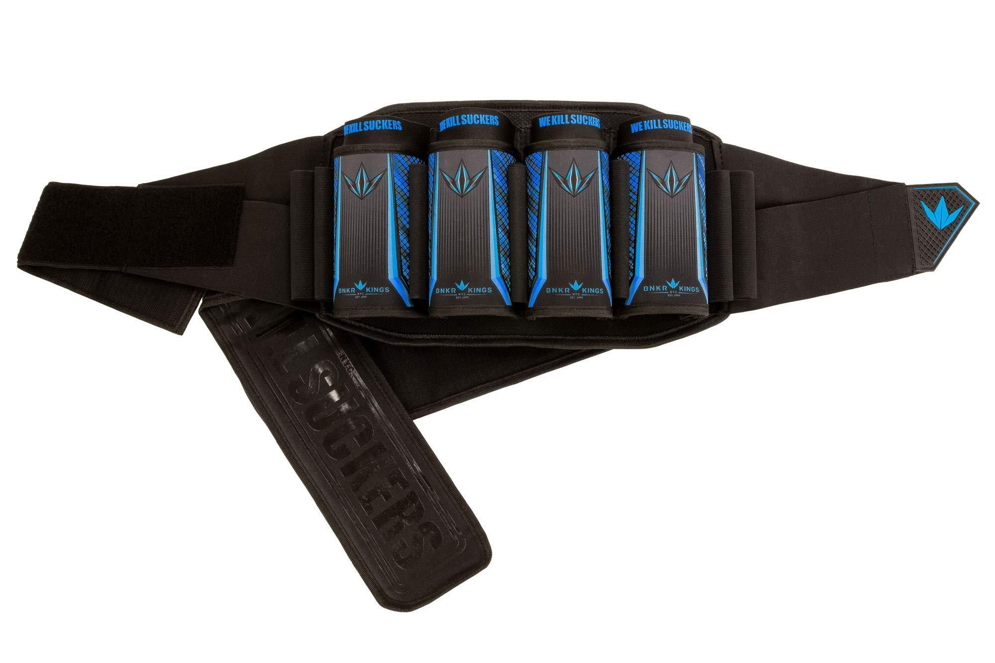 Bunker Kings V5 Supreme Pack Strapless Paintball Harness Pod Pack - 4+7 WKS Royal Blue by Bnkr Kings