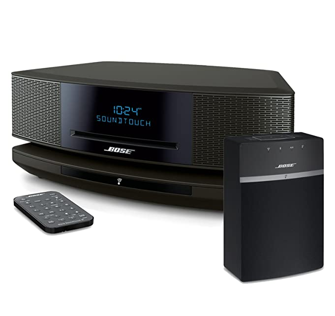 Platinum Silver Bose Wave Music System IV Bundle with Bluetooth Adapter II