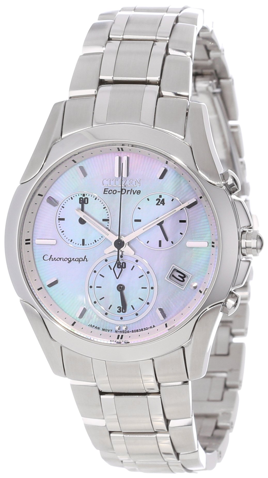 Citizen Women's FB1158-55D Eco-Drive Stainless Steel Chronograph Watch by Citizen