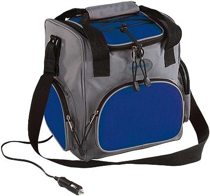 Domoclip Eléctrico de bolsa nevera con 12 V Conector Picnic Mochila para el coche (nevera portátil 16 litros, – Bolsa aislante eléctrico (, Gris Azul, ...