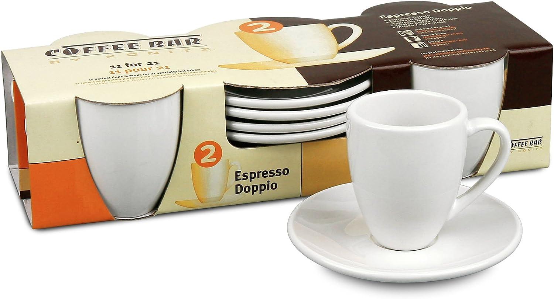 Könitz coffee bar espresso taza con platillo 8 piezas espresso taza de porcelana