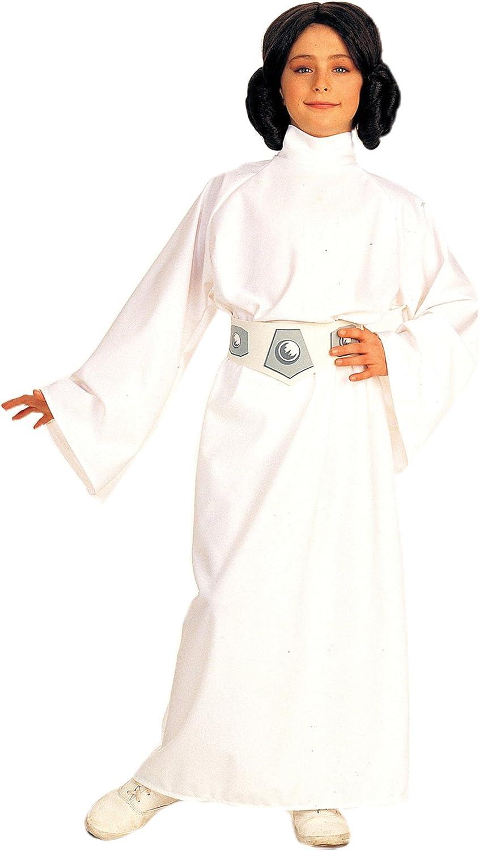 Disfraz de Princesa Leia Tamaño Grande 8-10 Años: Amazon.es ...