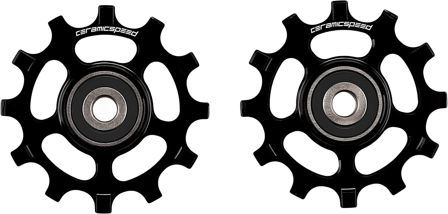 CeramicSpeed SRAM 12s AXS Road Alternative Blk Pulley Wheel, Black