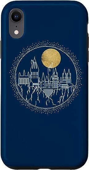iPhone XR Harry Potter Hogwarts Full Moon Line Art Case