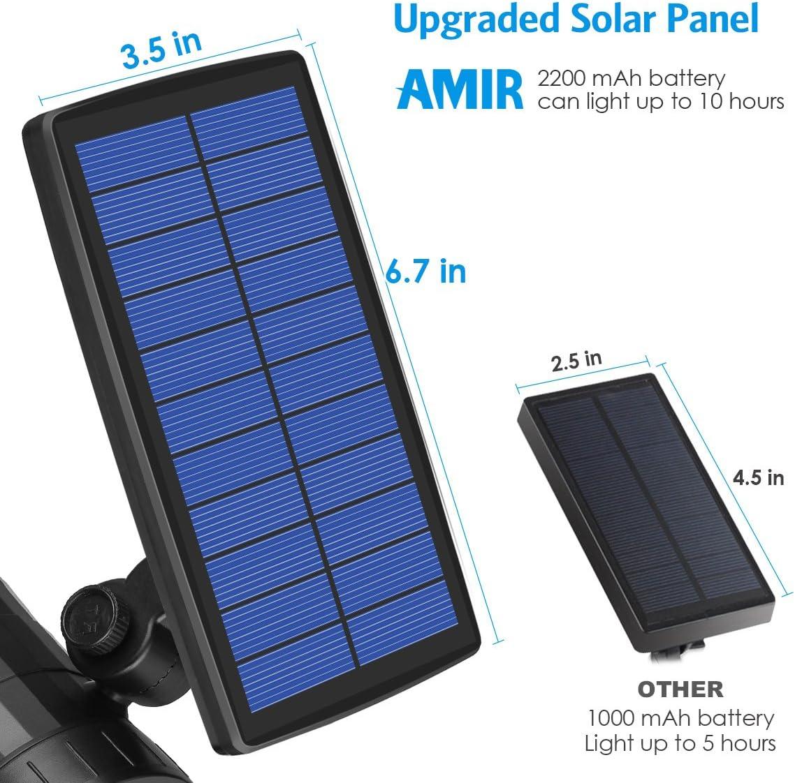 Amazon.com: AMIR Solar Spotlight, Luz de exterior con sensor ...