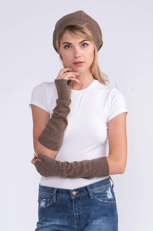 cashmere 4 U fingerlose Langarm-F/äustlinge aus 100/% Kaschmir f/ür Damen