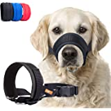 Dog Muzzle with Soft Fabric for Small, Medium and Large Dogs, Anti Biting, Chewing, Adjustable, Breathable