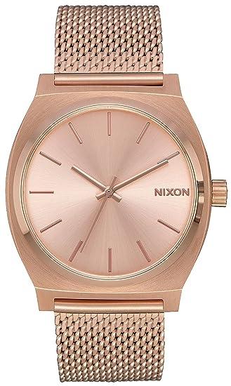 Reloj NIXON Time Teller Milanese All Rose Gold A1187897 Mujer: Amazon.es: Relojes