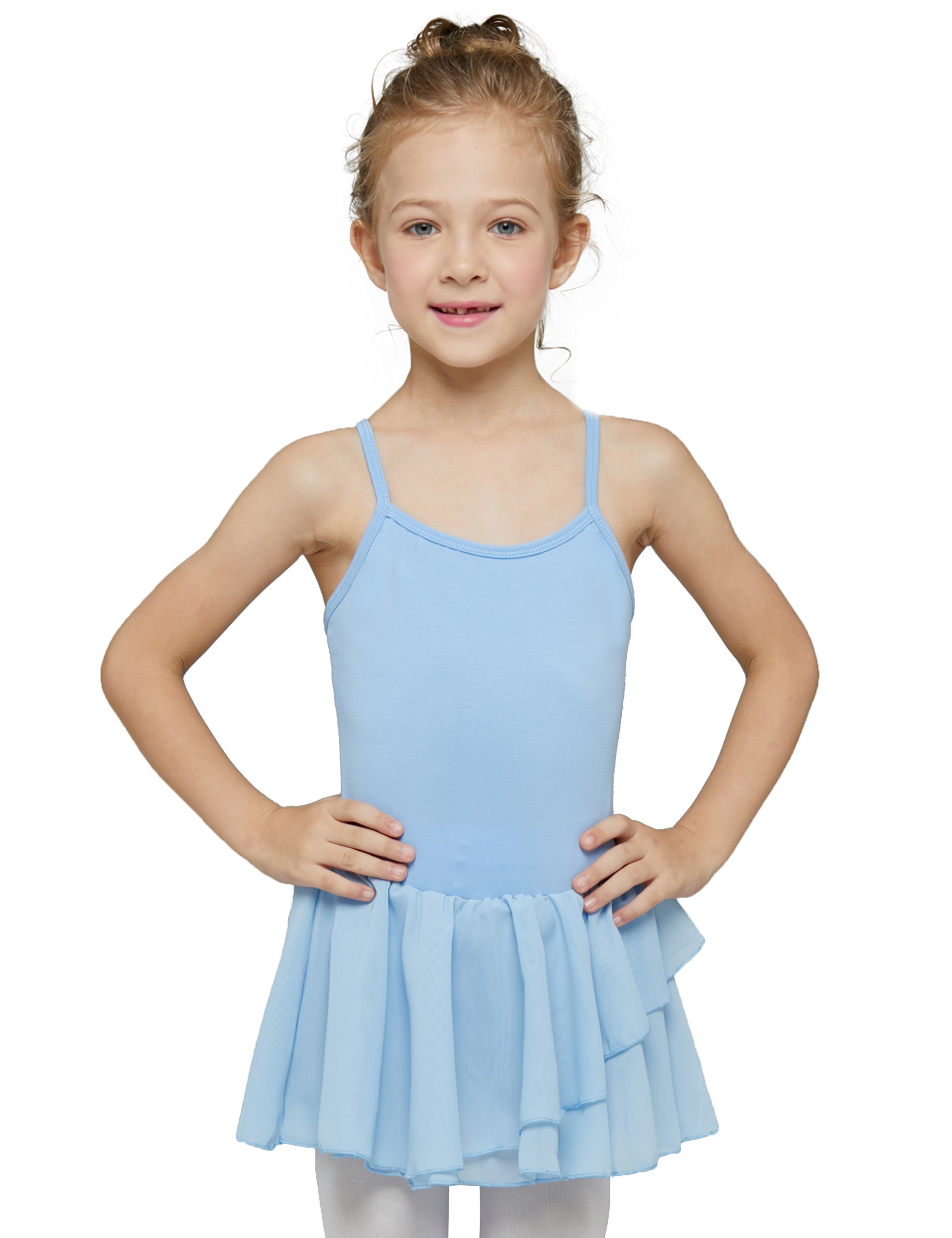 MdnMd Camisole Skirted Leotard for Girls by (Tag 130) Age 6-8, Blue