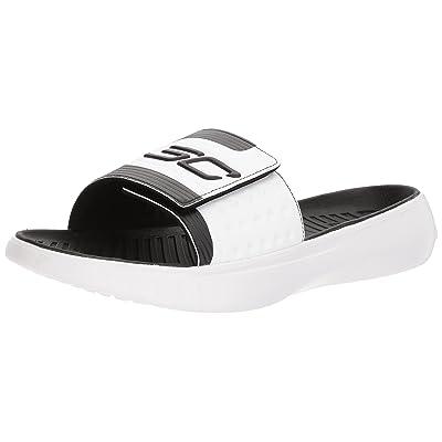 Under Armour Men's Curry 4 Slides Sandal, Black (001)/Black, 11 | Sport Sandals & Slides