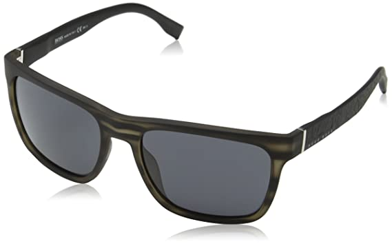 efab0ef952c92 Image Unavailable. Image not available for. Color  BOSS by Hugo Boss Men s  Boss 0918 s Polarized Rectangular Sunglasses GRYHORNBK 56 mm