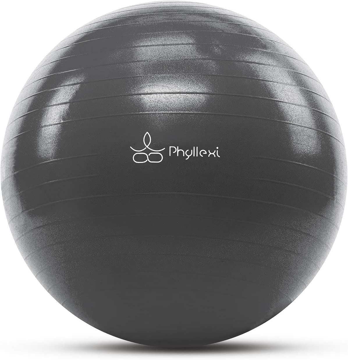 PHYLLEXI Exercise Ball (55-85cm) Extra Thick Yoga Ball Chair-Pro Grade Anti-Burst Heavy Duty Stability Ball Supports 2200lbs, Birthing Ball with Quick Pump for Office & Home & Gym