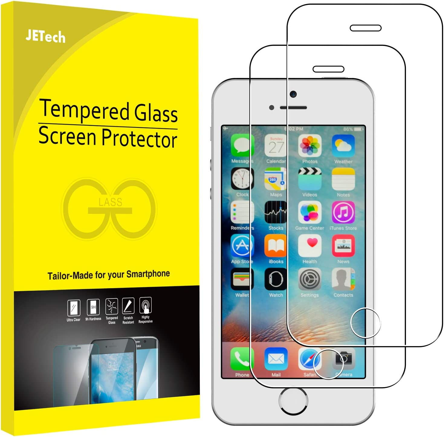 Protector de pantalla JETech para Apple iPhone SE/ 5s/ 5C /5