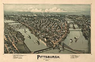 product image for Pittsburgh, Pennsylvania - (1902) - Panoramic Map (36x54 Giclee Gallery Print, Wall Decor Travel Poster)