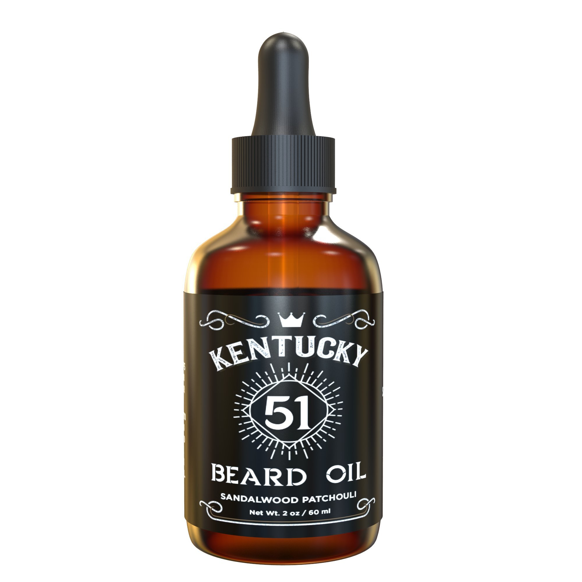Best Beard Oil - Conditioner & Softener for Men - Sandalwood Patchouli - Premium Blend Including Argan and Jojoba - 2oz