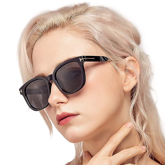 5000454f8ad64 Amazon.com  Myiaur Women Stylish Square Sunglasses