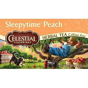 Celestial Seasonings Herbal Tea, Sleepy Time Peach, 20 Count