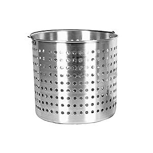 Thunder Group 24 Quart Aluminum Steamer Basket Fits ALSKSP005