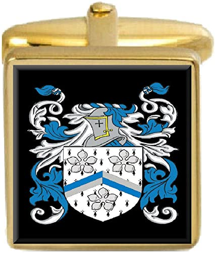 Select Gifts Tremble England Heraldry Crest Sterling Silver Cufflinks Engraved Message Box