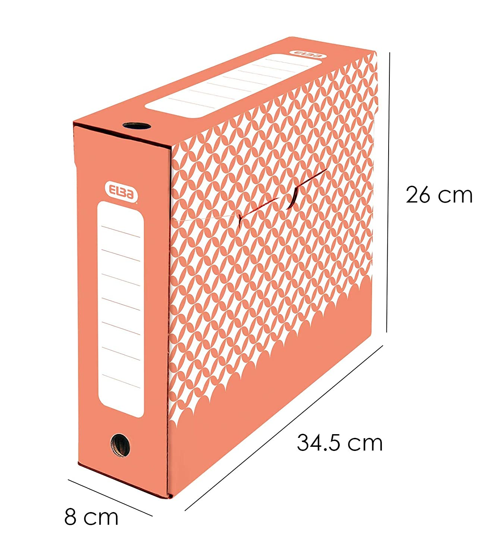 Elba Lot de 2 Bo/îtes de Rangement en Carton 32 x 32 x 37,5 cm Gris