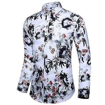 Camisa de manga larga para hombre, cuello alto, calavera, Halloween, para el tiempo libre, de manga larga, M, A:Orange, 1: Amazon.es: Industria, empresas y ciencia