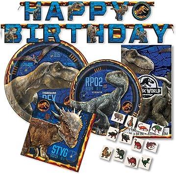 Amazon.com: Paquete de suministros para fiestas Jurassic ...