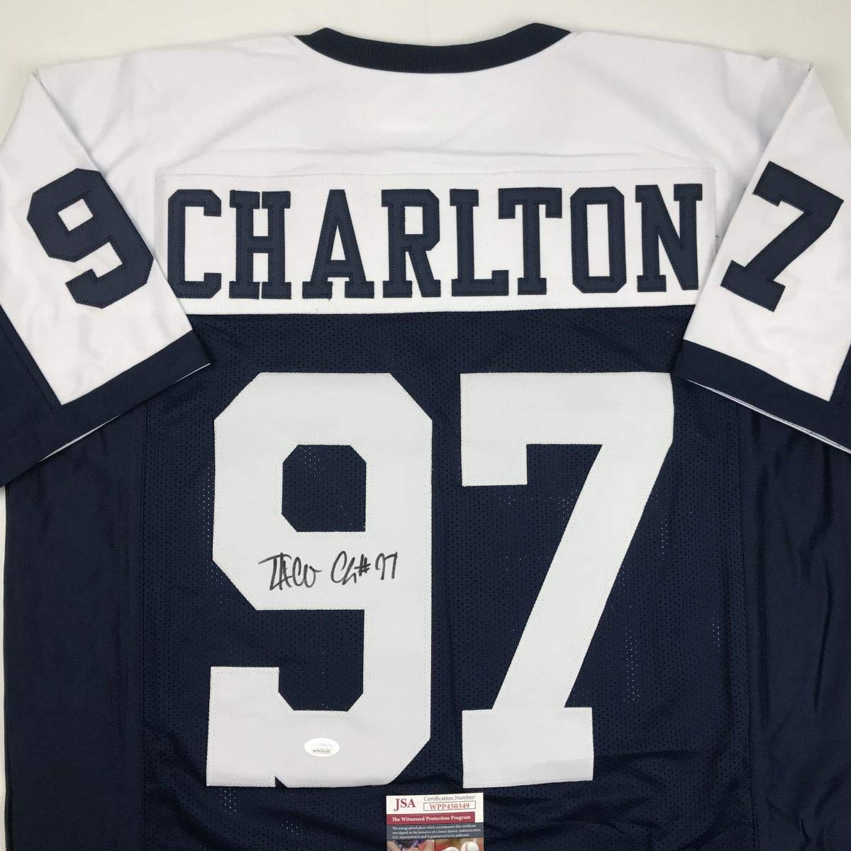detailed pictures c6fe9 2281d Autographed/Signed Taco Charlton Dallas Thanksgiving Day ...