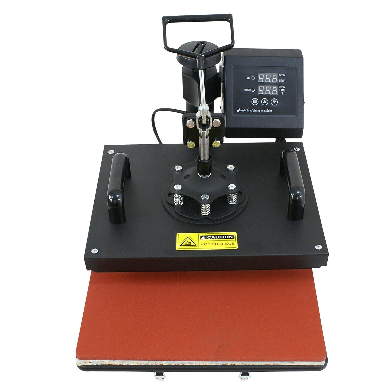 ZENY Digital Heat Press Transfer 6 in 1 Swing Away Heat Press Machine for T-Shirt Mug Hat Plate Cap(6in 1)