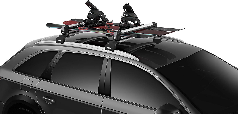 Thule SnowPack L, Portaesquís aerodinámico y elegante para todo tipo de esquís y tablas de snowboard.