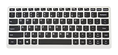PcProfessional Black Ultra Thin Silicone Gel Keyboard Cover for Lenovo Yoga 720 13 710 14 14