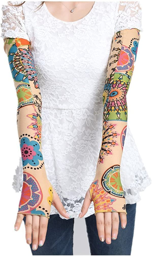Big Cow Fur Print Pattern Sports Protection Gloves Unisex Outdoor Sunscreen Arm Sleeve