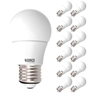 Sunco Lighting 12 Pack A15 LED Bulb, 8W=60W, 5000K Daylight, Dimmable, 800 LM, E26 Base, Indoor/Outdoor Light - UL, Energy Star